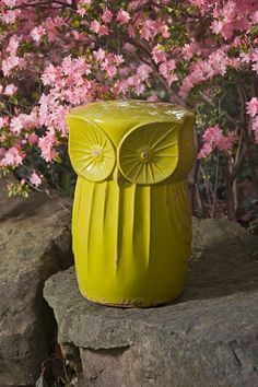 {Norris Owl Garden Stool} by IMAX - my garden needs this owl stool!