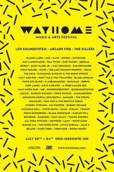 Music Festival List, Festival 2016, Music Festivals, Art Festival, Wolf Parade, Chet Faker, Gary Clark Jr, Arcade Fire, The Last Shadow Puppets
