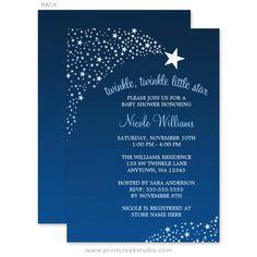 Twinkle Twinkle Little Shooting Star Baby Shower Invitations