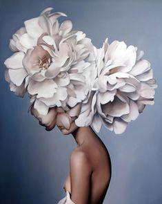 Gemälde Amy Judd - Kunst, Malerei - in . Painting Inspiration, Art Inspo, Arte Floral, Portrait Art, Art Pictures, Collage Art, Flower Art, Art Drawings, Art Projects