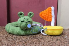 Swimming Hippo Toys Only by CongersCrochet on Etsy, $27.00
