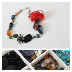 hand crafted necklace made from unique pieces collected from all corners of the globe #Amexau