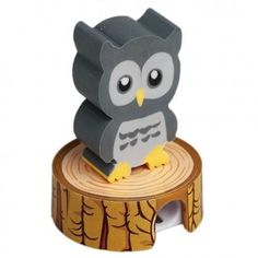 This cute little fella will make a great party bag filler for a woodland or nature party bag. The owl on top is an eraser and the log he sits on, a pencil sharpener. He comes packed in a neat little gift box. Pencil Eraser, Pencil Sharpener, Homeware Uk, Cool Erasers, Gadgets, Little Girl Gifts, Gray Owl, Cute Stationery, Stationary