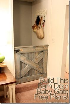 who can make this for me soon? I need it for a 44 inch opening and I need it ASAP... How much do you want to make it? Baby Gate For Stairs, Barn Door Baby Gate, Pet Gate, Baby Gates, Diy Barn Door, Stair Gate, Baby Door, Building A Barn Door, Half Doors