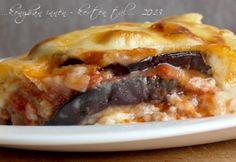 Moussaka pulykahússal Main Dishes, Side Dishes, Meat Recipes, Mousse, Pie, Chicken, Desserts, Food, Meals