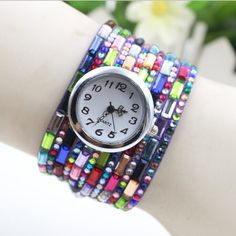 Colourful Chain Korea Fashion Bracelets Watch
