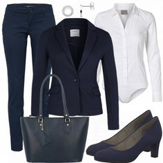 Nice business look made of blue blazer, blue trousers and a body blouse …. – Outfits for Work Nice business look made of blue blazer, blue trousers and a body blouse …. Professional Teacher Outfits, Young Teacher Outfits, Business Outfits, Business Attire, Business Fashion, Office Outfits For Ladies, Office Attire, Blazer Bleu, Mode Outfits