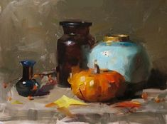 Still life oil painting by Qiang Huang.