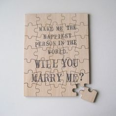 Guys....would be a REALLY creative way to ask a gal to marry you!!  :-)