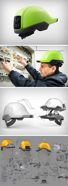 Designed to help unskilled workers acquire skill sets faster, and learn on the job, the eHat System is a hard hat with literally a guide inside it. Designed with a control panel to set up comms, a camera on the lip of the hat, and an audio system near the ears, the hat allows workers to communicate with their supervisors who guide them step by step as they do their job, allowing them to not just complete the task at hand, but actually learn.