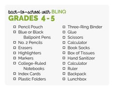 f71d0731d9b Back to School Shopping List for 4th grade and 5th grade Back To School  Shopping,