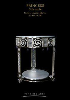 Princess Side Table - pont des Arts  - Designer Monzer Hammoud - Paris-