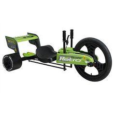 F1 Retro Booster Turbo Twist Steer Big Wheel Go Kart Trike Green