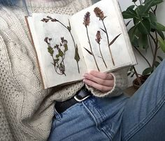 My field diary with plants I collected during my adventure up north