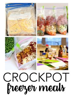 Crockpot Freezer Meals - a great way to feed your family, even when you are busy! Use some of these family favorites in your home.