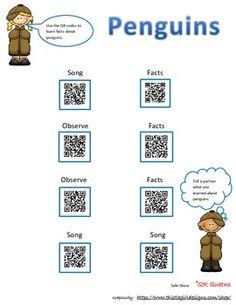 Exploring Penguin Fun with QR Codes - Free