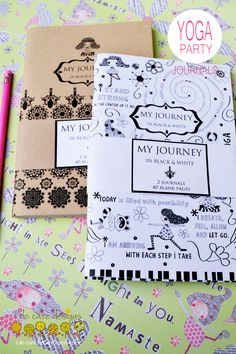 Yoga Journals, great for Yoga Birthday Loot Bags www.etsy.com/shop/idocaredesigns