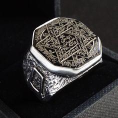 Natural Black Rutile Ring 92.5 Sterling Silver Ring Hallmark Seal 92.5 Sterling Silver