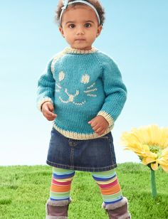 Funny Bunny Pullover - free pattern - KNIT - wait till you see the back - really cute!