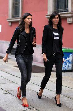 la modella mafia Emmanuelle Alt and Geraldine Saglio of Vogue Paris - Fashion Editor street style streettonic 2