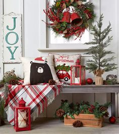 Let JOANN inspire you with projects, tips & ideas for every season. From Spring & Fall to Halloween & Christmas, JOANN has crafting ideas for every holiday Christmas Entryway, Christmas Porch, Farmhouse Christmas Decor, Country Christmas, Christmas Time, Christmas Wreaths, Christmas Crafts, Pottery Barn Christmas, Christmas Countdown
