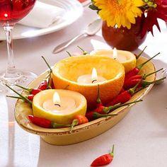 O que acham da ideia de usar a casca da laranja como porta velas? ✨Achei super criativa essa ideia! #regram @magikhome #ideia #ideias #ideiasoriginais #ideiasdiferentes #detalhes #inspiracao #velas #portavelas #laranja