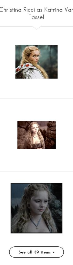 """""""Christina Ricci as Katrina Van Tassel"""" by imawkwardhey ❤ liked on Polyvore featuring people, pictures, women, harry potter, sleepy hollow, backgrounds, models, tim burton and movies"""