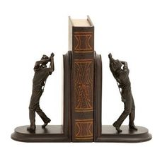 Stylish And Unique Golf Themed Bookends