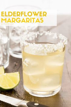 Today's Elderflower Margarita recipe is brought to you just in time for summer sipping season. Today's Elderflower Margarita recipe is brought to you just in time for summer sipping season. Summer Drinks, Cocktail Drinks, Fun Drinks, Hard Drinks, Halloween Cocktails, Halloween Party, Beverages, Batch Cocktail Recipe, Margaritas