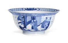 A blue and white 'Xi xiangji' bowl, Kangxi period (1662-1722)