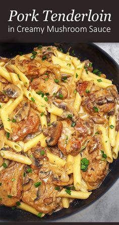 Pork Chop Recipes, Sausage Recipes, Meat Recipes, Cooking Recipes, Pork Meals, Recipes Using Pork Tenderloin, Pork Tenderloin Side Dishes, Sauce For Pork Tenderloin, Healthy Pork Recipes