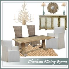 Coastal inspired dining room in neutral tones: http://www.ourboathouse.com/chatham-dining-room-collection/