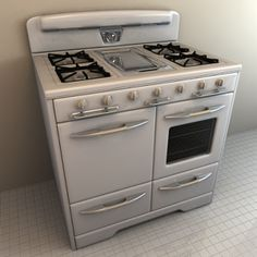 by would love this stove.had one of these one time in an apt. I rented. Vintage Appliances, Kitchen Appliances, Goat Playground, Vintage Stoves, Vintage Vogue, Culinary Arts, Home Kitchens, Cooking Recipes, Cinema 4d