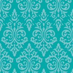 Jacqueline Savage Mcfee - Vintage Vogue - Scroll in Turquoise  hawthornethreads.com
