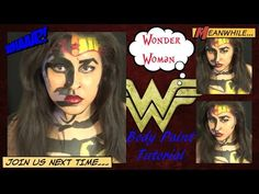 DC Comics: Wonder Woman Body Paint Tutorial (NoBlandMakeup)