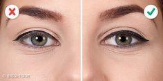 10 erreurs qui ruinent votre Winged Eyeliner Highlighter Makeup, Contour Makeup, Eye Makeup, Beauty Makeup, Homemade Face Masks, Diy Face Mask, How To Apply Eyeliner, Applying Eyeliner, Tips For Oily Skin