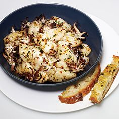 Grilling calamari allows the naturally rich flavor to emerge. A bright marinade, made with garlic and chile flakes, add bold flavor to the seafood dish.