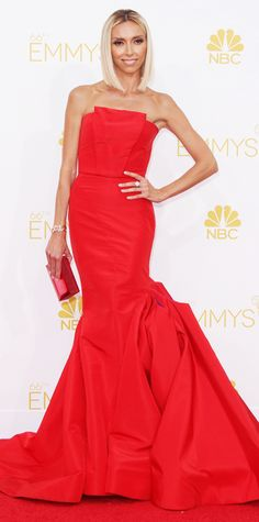 Emmy Awards 2014 Red Carpet Photos - Giuliana Rancic in Gustavo Cadile. #InStyle
