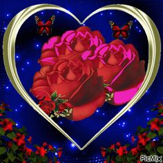Beautiful Gif, Beautiful Roses, Beautiful Hearts, Flowers Gif, Sparkle, Animation, Disney Characters, Creative, Pictures