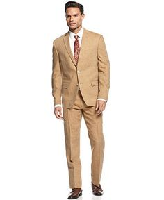 Men's Brown Tan Shark-skin Vested Slim Fit | More Shark, Brown and ...