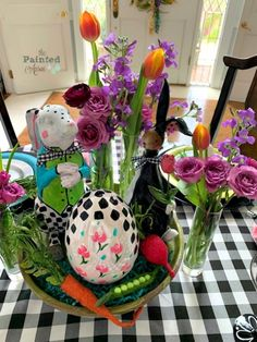 Holidays, Happy Easter!   The Painted Apron Easter 2020, Happy Easter, Tablescapes, Apron, Bunny, Holidays, Creative, Flowers, Painting