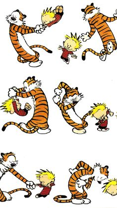 Calvin & Hobbes- I'm always up for dancing- especially around the living room!