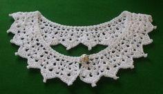 White cotton lace crochet Peter Pan collar £7.50
