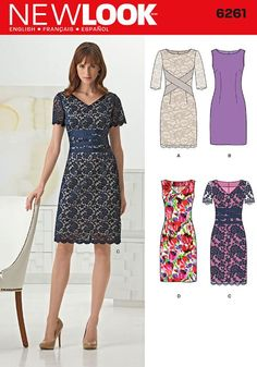 New Look 6261 making dress c exact as shown for a wedding i am attending