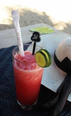 Watermelon juice in Bali, healthier beach drink