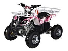 "Go Easy Online - Quad ATV 125cc FARM Model ""Mudder Jnr"" Auto+ Reverse Pink By GMX"