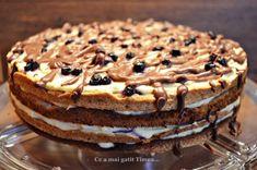 Tort cu nuca crema de vanilie si afine - Retete Timea Dessert Recipes, Desserts, Tiramisu, Ethnic Recipes, Cakes, Food, Meal, Deserts, Essen