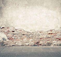 Fotobehang Afgebrokkelde muur   De Fabriek Muurstickers