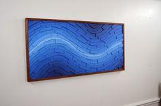 wooden wall art Electric Atlantic 48x24 Oak by StainsAndGrains