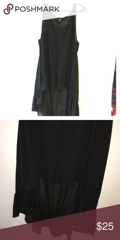 Torrid Hi-lo Ruffle Chiffon Tank NWOT Never worn can switch up color of cami to change the look! Torrid Tops Blouses